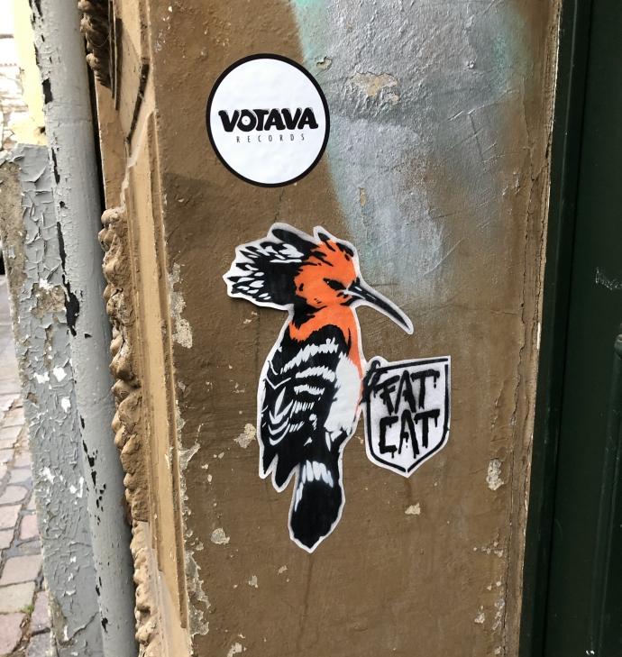 FATCAT Sticker Hamburg Streetart